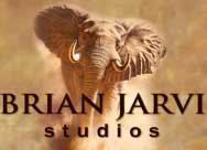 """""""Jackal Pups""""Original ArtBrian Jarvi - African Wildlife Original Art - Original Oil Paintings of African Wildlife Artist Brian Jarvi -"""