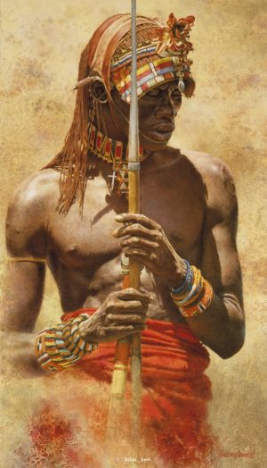 Samburu Warrior - Brian Jarvi Studios Brian Jarvi Artwork Limited Edition Prints