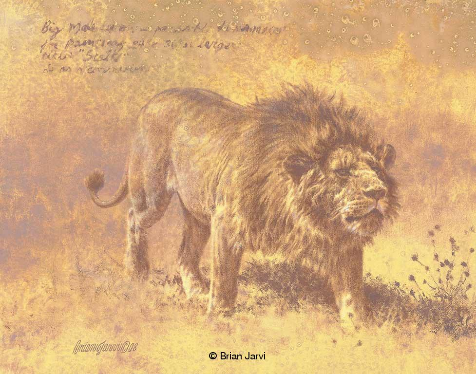"Stalk <B><font size=""2"" color=""red""><br>This Original has been sold and is in a private collection</font></B> - Brian Jarvi Studios African Wildlife Original Art Brian Jarvi Artwork"
