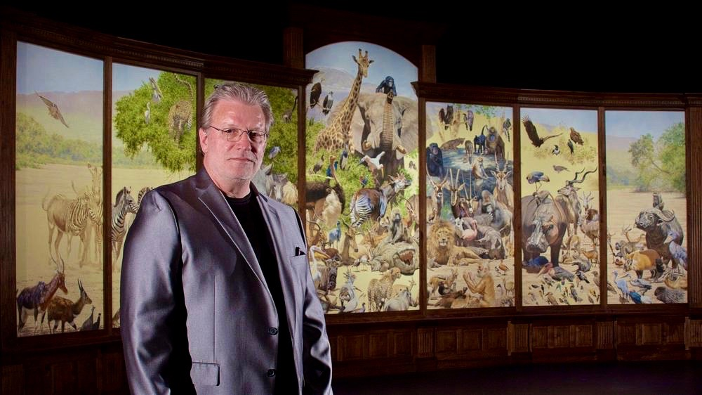 Brian Jarvi at the Unveiling of African Menagerie