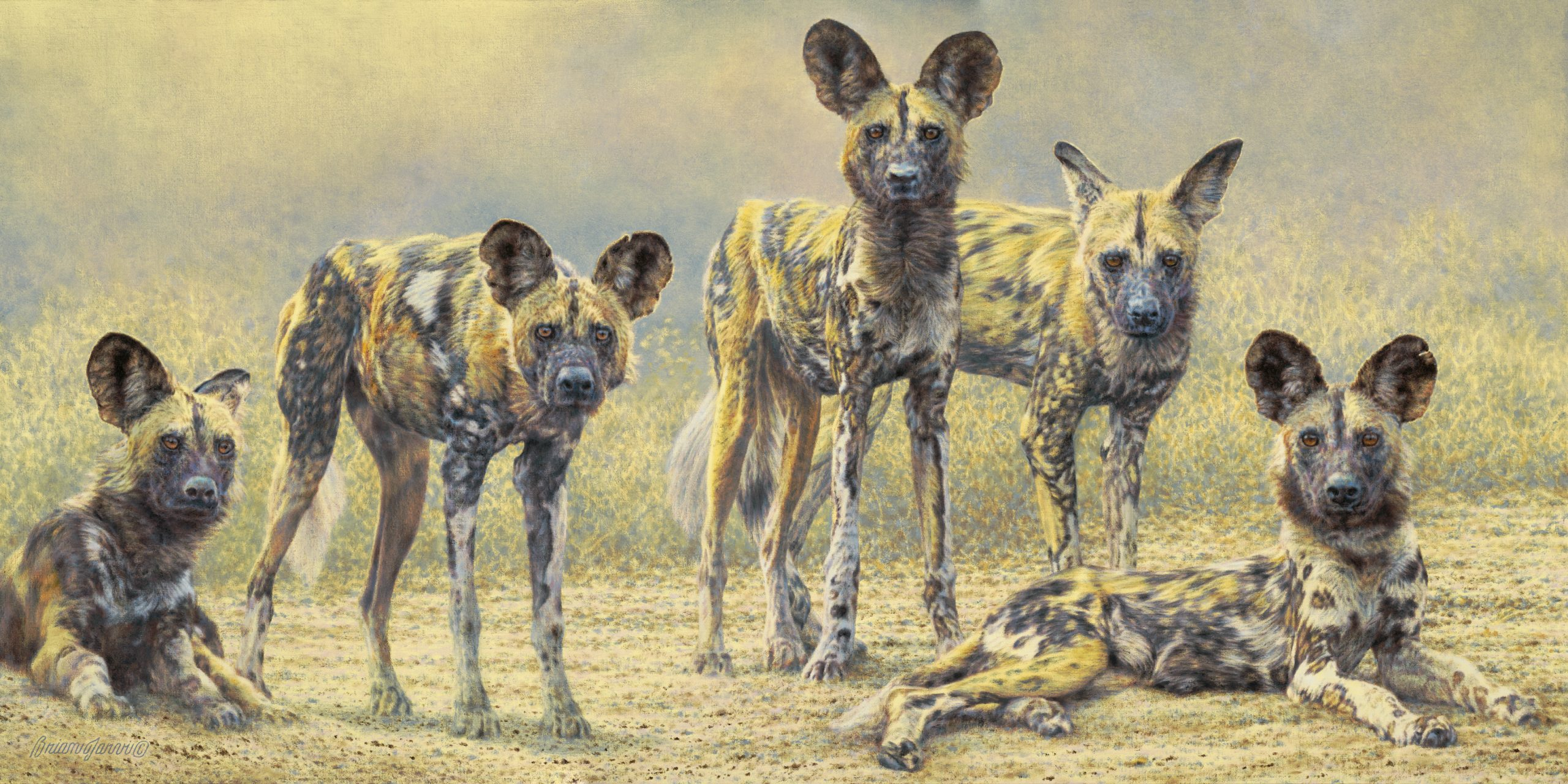 """""""Dogs of War"""" 24""""x 48"""" Sold - Brian Jarvi"""