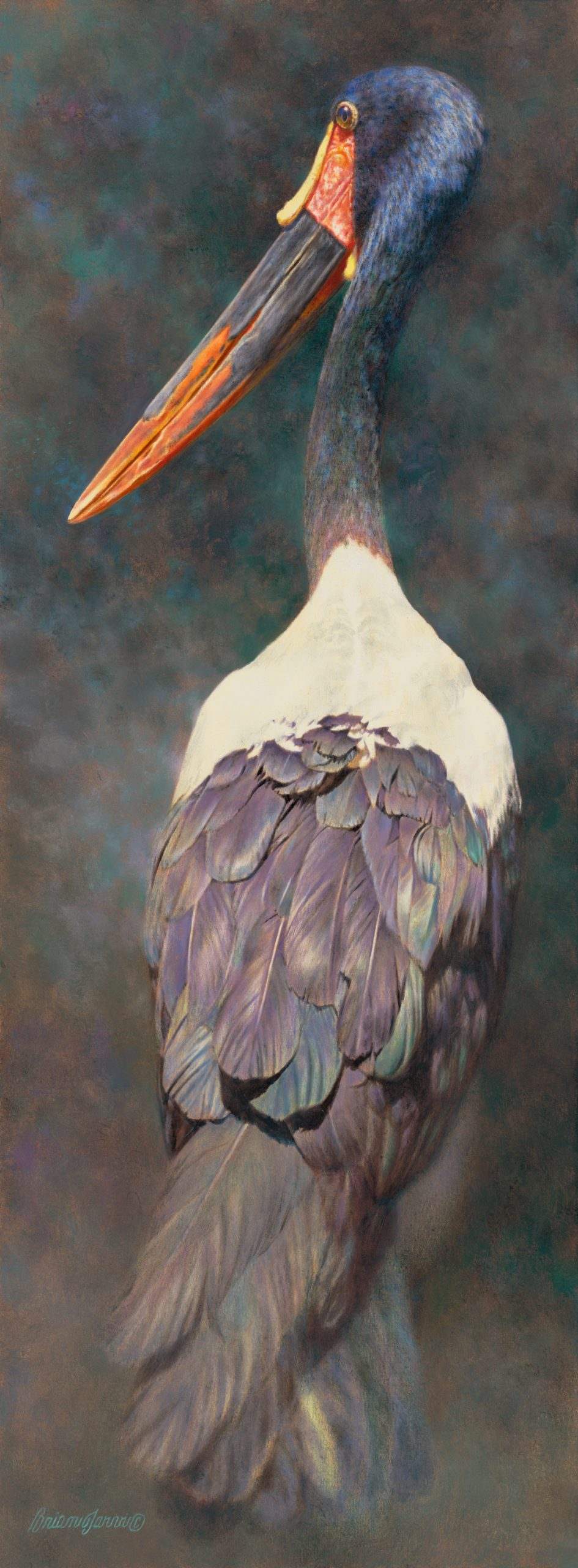 """Feather Essence Iridescence"" 13""x 35"" Sold - by Brian Jarvi"